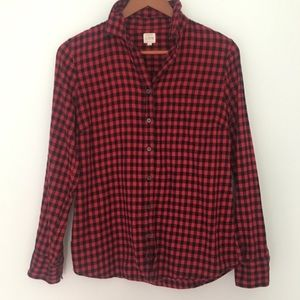 J. CREW // red + black buffalo check flannel